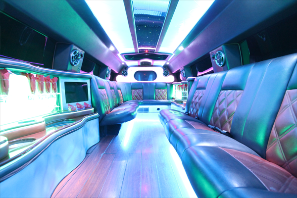 14 passenger hummer SUT limousine interior 3